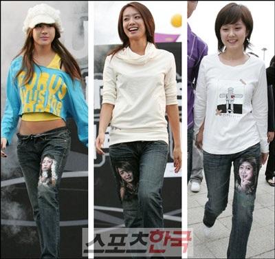 """""""Sao"""" Hàn bán quần jeans cũ… làm từ thiện! - 1"""