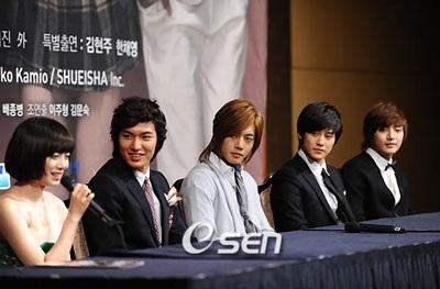 Nhóm F4 xứ Hàn tổ chức buổi họp báo đầu tiên - 3