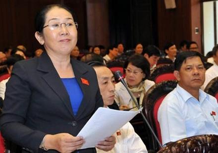 Đại biểu Võ Thị Dung: Đại biểu nào lỡ tham nhũng hãy tự nhận, xin được tha lỗi.