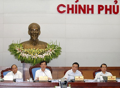 Thủ tướng chủ trì phiên họp chuyên đề xây dựng pháp luật của Chính phủ (ảnh: Chinhphu.vn).
