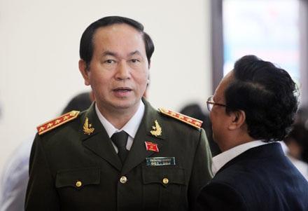Bộ trưởng Công an Trần Đại Quang tại Quốc hội ngày 5/11 (ảnh: Việt Hưng).