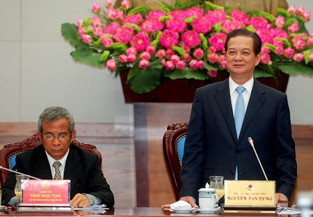 Thủ tướng Nguyễn Tấn Dũng chủ trì buổi làm việc với Tổng Liên đoàn Lao động VN (ảnh: chinhphu.vn).