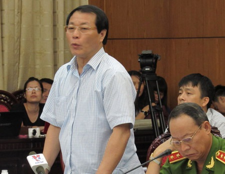 Phó Viện trưởng VKSND tối cao Nguyễn Hải Phong tại phiên giải trình.