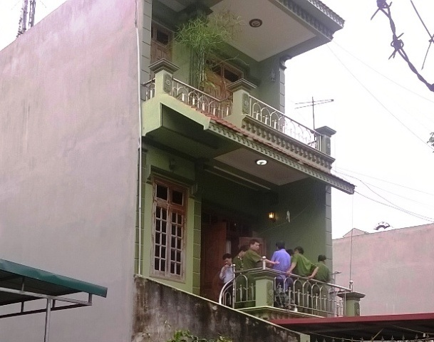 Tầng 2 của căn nhà nơi nạn nhân bị sát hại