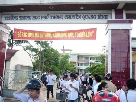 Tính đến thời điểm này, Quảng Bình đã sẵn sàng cho kỳ thi tốt nghiệp THPT năm 2013. (Ảnh: Đặng Tài)