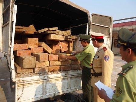 Lực lượng chức năng phát hiện gần 4m3 gỗ quý không có giấy tờ hợp pháp