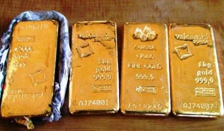 4 kg vàng miếng lậu được cơ quan chức năng bắt giữ tại Cửa khẩu Quốc tế Cha Lo
