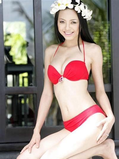 Vũ Hoàng Điệp đầy sức sống tại cuộc thi Hoa hậu Việt Nam 2008