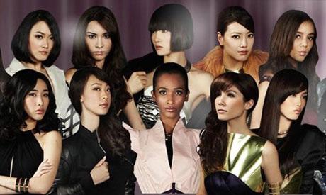 Thùy Trang tóc ngắn xuất hiện tại cuộc thi Asia's Next Top Model tại Singapore