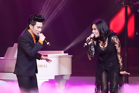 Thanh Lam - Quang Hà khép lại chương trình với ca khúc Mưa hồng của Trinh Công Sơn