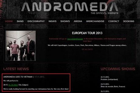 Andromeda háo hức gặp gỡ các fans tại Việt Nam