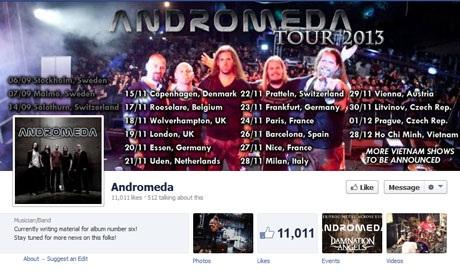 Fanpage của Andromeda đã công bố lịch biểu diễn tại TPHCM, Việt Nam