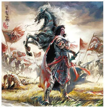 Hình ảnh Hạng Vũ và ngựa Ô Truy bên bờ song Ô Giang đã trở thành truyền thuyết