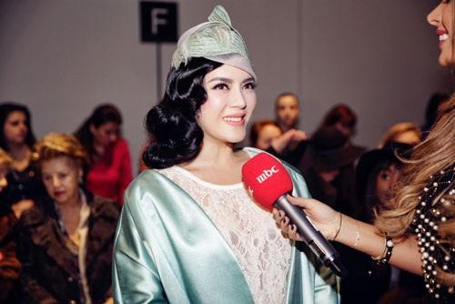 Cô được Đài truyền hình của Ả rập phỏng vấn
