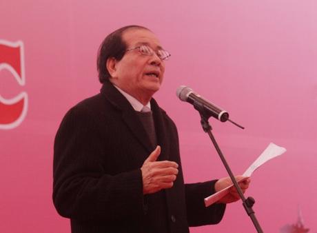 Nhà thơ Hữu Thỉnh, Chủ tịch Hội Nhà văn Việt Namđọc diễn văn khai mạc Ngày thơ lần thứ XII