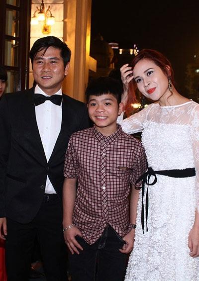 Cặp nghệ sỹ Hồ Hoài Anh- Lưu Hương Giang và Quán quân Giọng hát Việt nhí Quang Anh