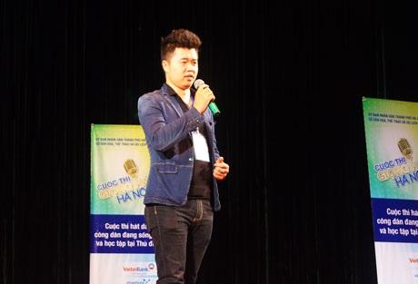 Một thí sinh tham gia vòng sơ khảo sáng ngày 25/8 tại Trung tâm Văn hóa Thành phố Hà Nội
