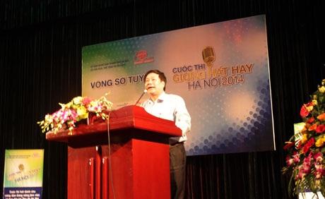 Ông Trần Quốc Chiêm, Phó Giám đốc Sở VH, TT&DL TP Hà Nội- Phó BTC phát biểu tại lễ khai mạc