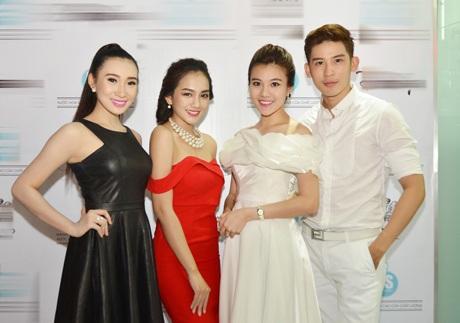 Từ trái qua: Diễm Nhung, Châu Diệu Minh, Á khôi Tăng Huỳnh Như và siêu mẫu Minh Trung.