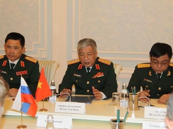 Thượng tướng Nguyễn Chí Vịnh (giữa) (Ảnh: Duy Trinh/Vietnam+)