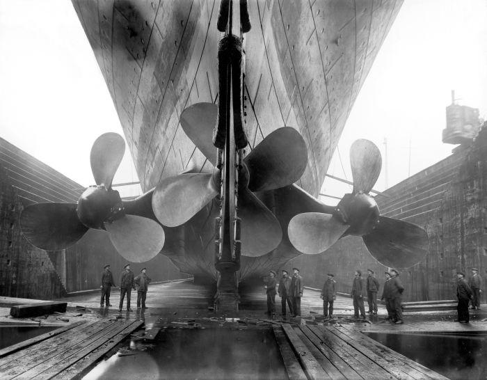 Hệ thống cánh quạt của con tàu (ảnh chụp năm 1912)