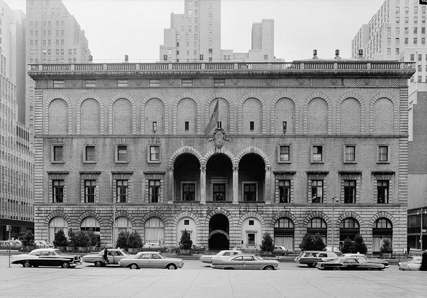 Năm 1965: Câu lạc bộ quần vợt New York được bao quanh bởi những tòa nhà chọc trời