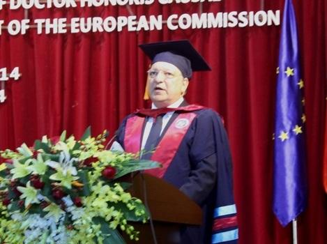 Chủ tịch EC José Manuel Barroso phát biểu tại buổi lễ (Ảnh N.Hằng)