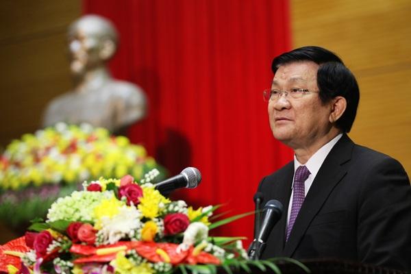 Chủ tịch nước Trương Tấn Sang: Việt Nam luôn coi trọng mối quan hệ láng giềng tốt đẹp với Campuchia