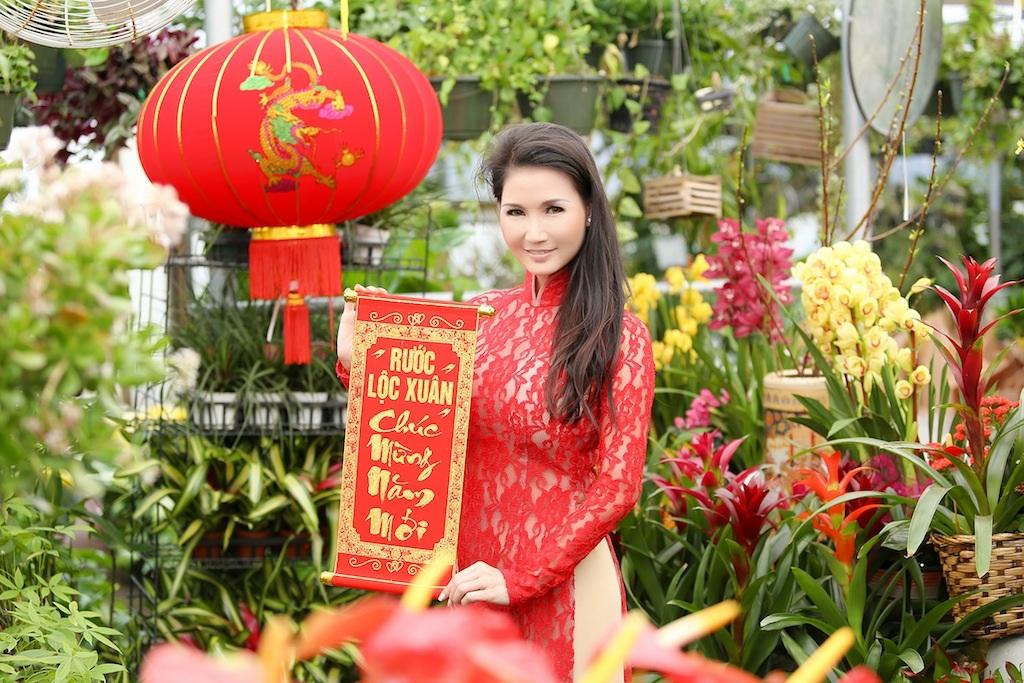 Một góc chợ hoa của người Việt ở Texas