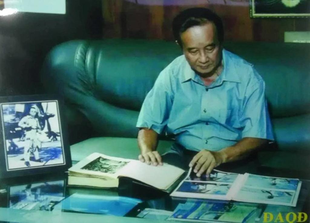 Một cảnh trong phim với AH LLVTND - Đại tá Nguyễn Thành Trung. Ảnh: T.L