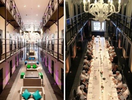 Nhà tù gồm 105 căn phòng giam giờ được chuyển thành 40 căn phòng rộng rãi thoáng đãng,