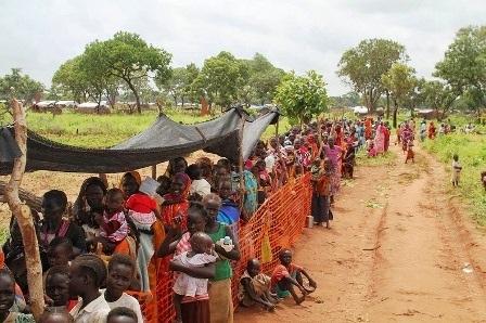 Hầu hết những người tị nạn đã đi bộ từ 3 – 12 ngày tới cắm trại ở khu vực Yida.