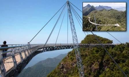Cầu đi bộ này được xây dựng năm 2004, nằm ở độ cao 700 mét so với mực nước biển.