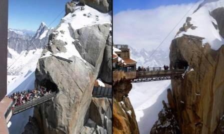 Chiếc cầu này được xây dựng trên đỉnh ngọn núi
