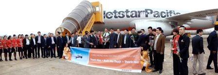 Chuyến bay khai trương Thanh Hóa - Buôn Ma Thuột của Jetstar Pacific sáng 3/2