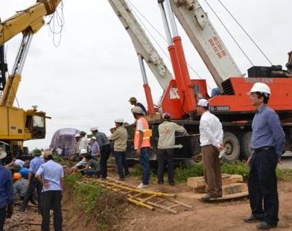 Công tác cứu hộ vụ tai nạn đường sắt trên địa bàn tỉnh Quảng Trị xảy ra ngày 10/3
