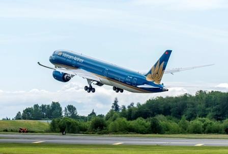 Chiếc máy bay 787-9 đầu tiên của Vietnam Airlines