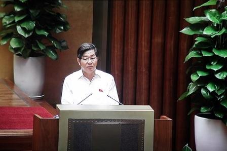 Bộ trưởng Bộ Kế hoạch và Đầu tư Bùi Quang Vinh (ảnh: Ngọc Châu)