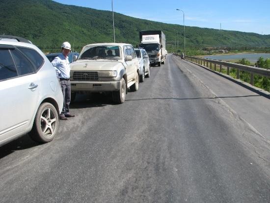 HLVBX xảy ra trên Quốc lộ 1A hiện nay (ảnh: Thế Kha)