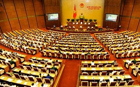 Dự án Luật MTTQVN được báo cáo tại nghị trường Quốc hội ngày 21/5 (Ảnh: Việt Hưng)