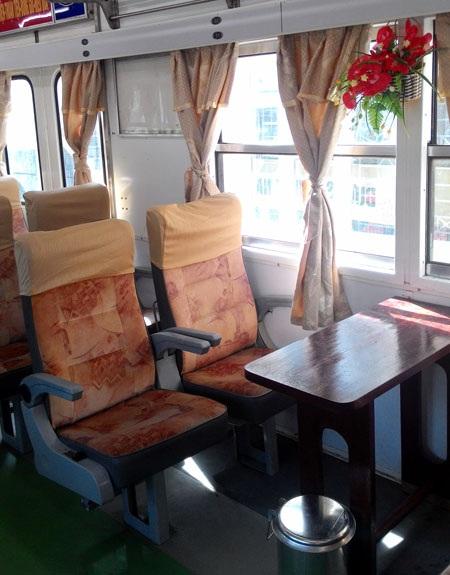 Nội thất và trang thiết bị trên tàu nhanh chất lượng cao