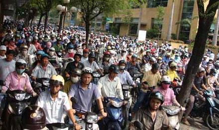 Số lượng xe máy được đăng ký ở Hà Nội và TPHCM chiếm gần 25% tổng số xe cả nước