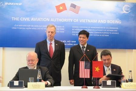 Lễ ký kết Biên bản Hợp tác giữa CAAV và Boeing chiều 26/1