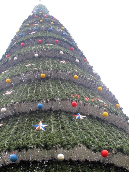"""Ngắm cây thông Noel """"khủng"""" cao bằng tòa nhà... 10 tầng"""