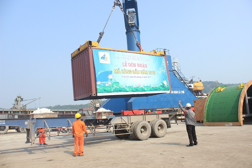 Mã hàng đầu năm 2015 được cập cảng Cửa Lò.