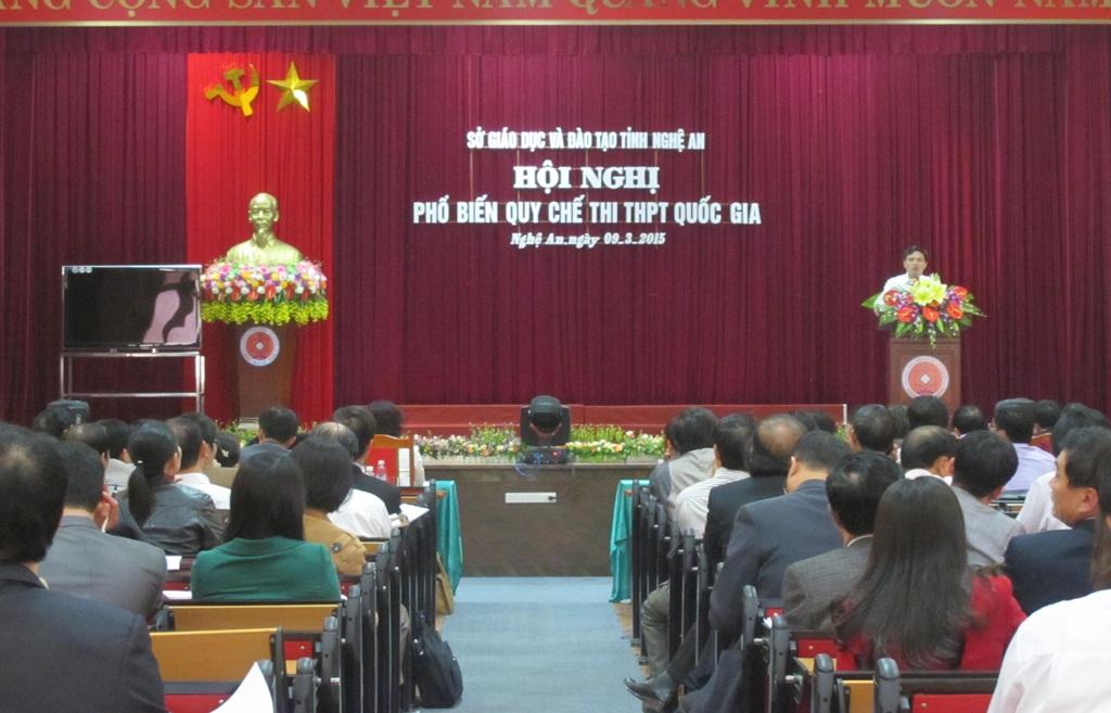Hội nghị phổ biến quy chế thi THPT quốc gia tại Nghệ An.