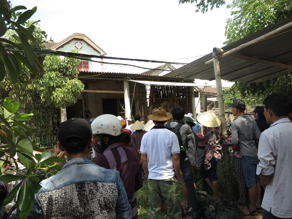 Ngôi nhà của vợ chồng anh Hải, nơi xảy ra vụ án đau lòng.