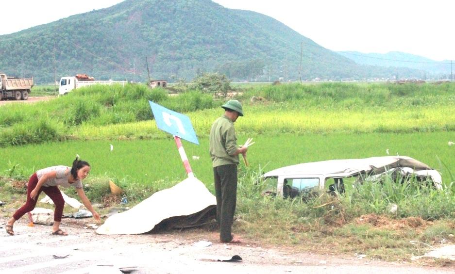 Bà Minh tử vong sau vụ tai nạn liên hoàn.