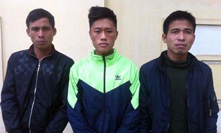 Các đối tượng trộm cắp, tiêu thụ xe gian bị bắt giữ tại cơ quan điều tra