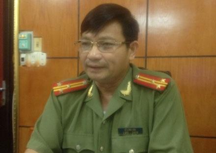 Thượng tá Nguyễn Long Vân, phát ngôn CA tỉnh Hải Dương làm việc với phóng viên Dân trí.